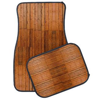 Rustic Wooden Boards Photo-sampled Art Car Mat
