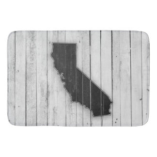 Rustic Wooden California Black and White Mat