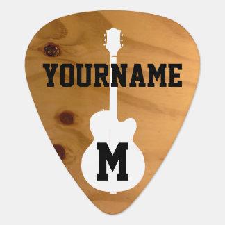 rustic wooden / faux wood photo guitar pick