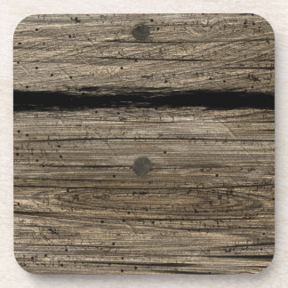 Rustic Wooden Plank Cork Coaster