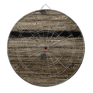 Rustic Wooden Plank Dart Board