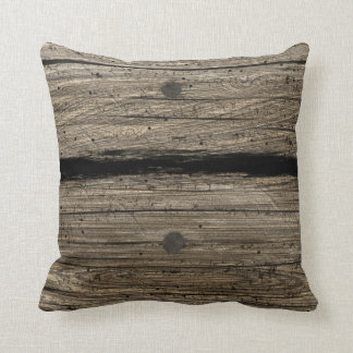 Rustic Wooden Plank Pillow