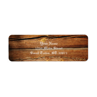 Rustic Wooden Planks  Wood Board Country Gifts Return Address Label
