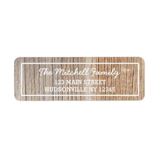 Rustic Woodgrain Personalized Address Label