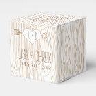 Rustic Woodgrain wedding favour box