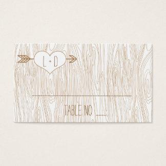Rustic Woodgrain Wedding Placecards Business Card