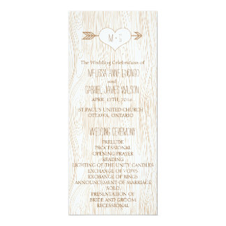 Rustic Woodgrain Wedding Program