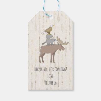 Rustic Woodland animals forest Favor tags