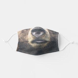 rustic woodland bear cloth face mask
