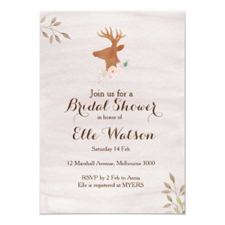 Rustic Woodland Bridal Shower Invitation