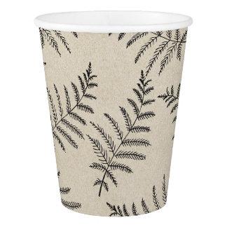 Rustic Woodland Ferns Wedding Paper Cup
