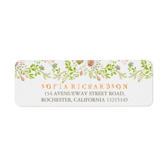 Rustic Woodland Floral Return Address Labels