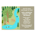 Rustic Woodland Nature Birthday Party Card