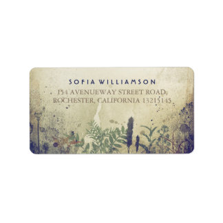 Rustic Woodland Navy Address Labels