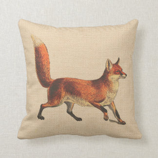 Rustic Woodland Red Fox Pillow