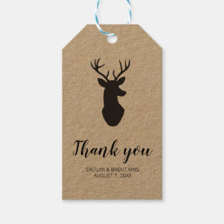 Rustic Woodland Thank You Tag