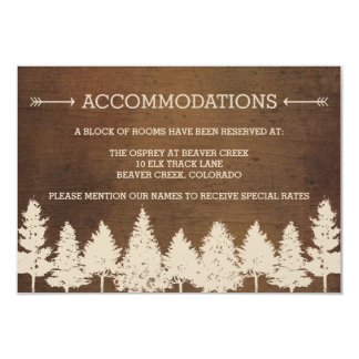 "Rustic Woodland Wedding Enclosure Cards 3.5"" X 5"" Invitation Card"