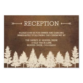 """Rustic Woodland Wedding Reception Cards 3.5"""" X 5"""" Invitation Card"""
