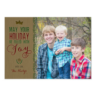 Rustic Woods Holiday Card