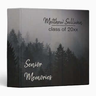 Rustic Woodsy Class Graduation Senior Memories Binders