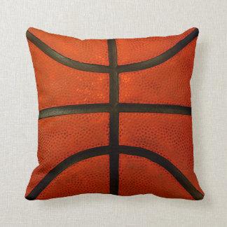 Rustic Worn Basketball Throw Pillow