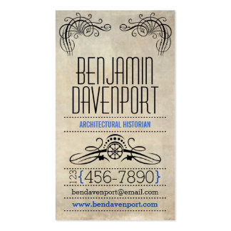 Rustic Worn Paper - Blue Business Card