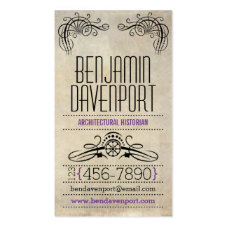 Rustic Worn Paper - Purple Business Card Templates
