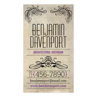 Rustic Worn Paper - Purple Business Card Templates
