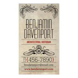 Rustic Worn Paper - Red Business Card Template