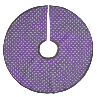 Rustic Woven Purple Wicker on Custom Silver Brushed Polyester Tree Skirt