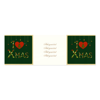 rustic,xmas,christmasl,cute,hipster,girly,vintage, pack of skinny business cards