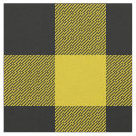Rustic Yellow and Black Buffalo Plaid Fabric