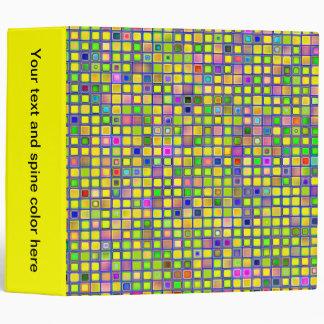 Rustic Yellow Mosaic Clay Tiles Pattern Vinyl Binder