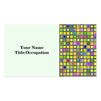 Rustic Yellow Mosaic Clay Tiles Pattern Business Card Template