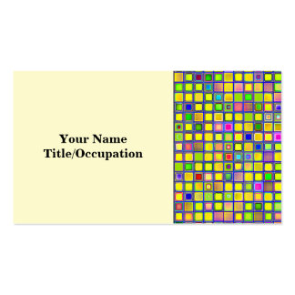 Rustic Yellow Mosaic Clay Tiles Pattern Business Card Templates