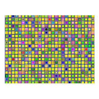 Rustic Yellow Mosaic 'Clay' Tiles Pattern Postcard