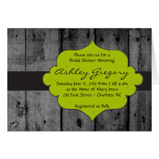 Rustic Yellow Wood Invitation Greeting Card
