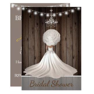 Rustic yet Elegant Bridal Shower Invitation