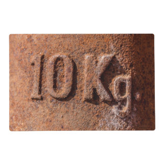 Rusty 10 kg laminated placemat
