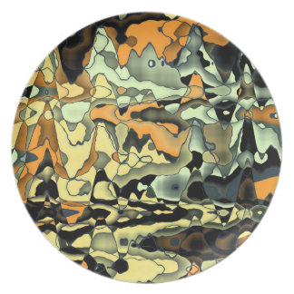 Rusty abstract party plate