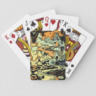 Rusty abstract poker deck