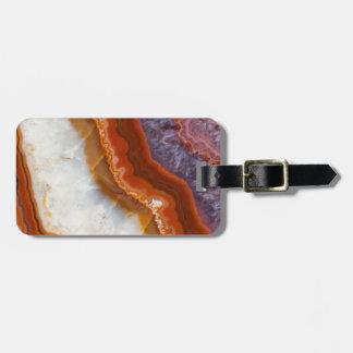Rusty Amethyst Agate Luggage Tag