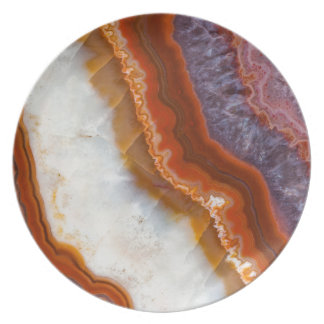 Rusty Amethyst Agate Party Plate