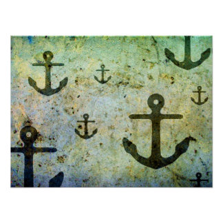 Rusty Anchors Artwork Poster