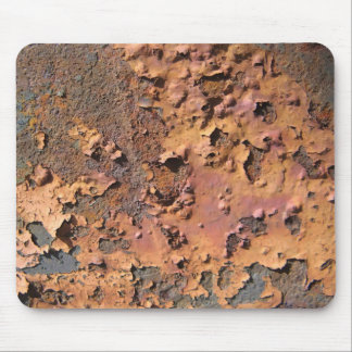 Rusty and decayed paint texture mouse pad