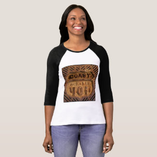 Rusty beach element on Coast Highway 101 T-Shirt