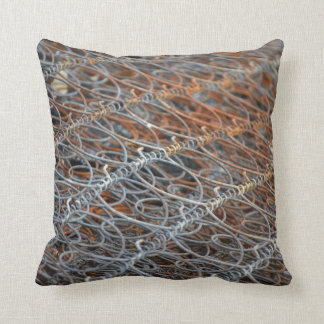 rusty bed springs steampunk industrial throw pillow