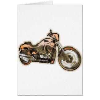 Rusty Bike (Motorbike) - Contemporary Art Card