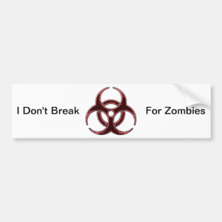 Rusty Bio Hazard Symbol Bumper Sticker