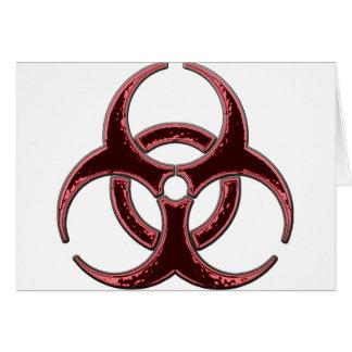 Rusty Bio Hazard Symbol Greeting Card